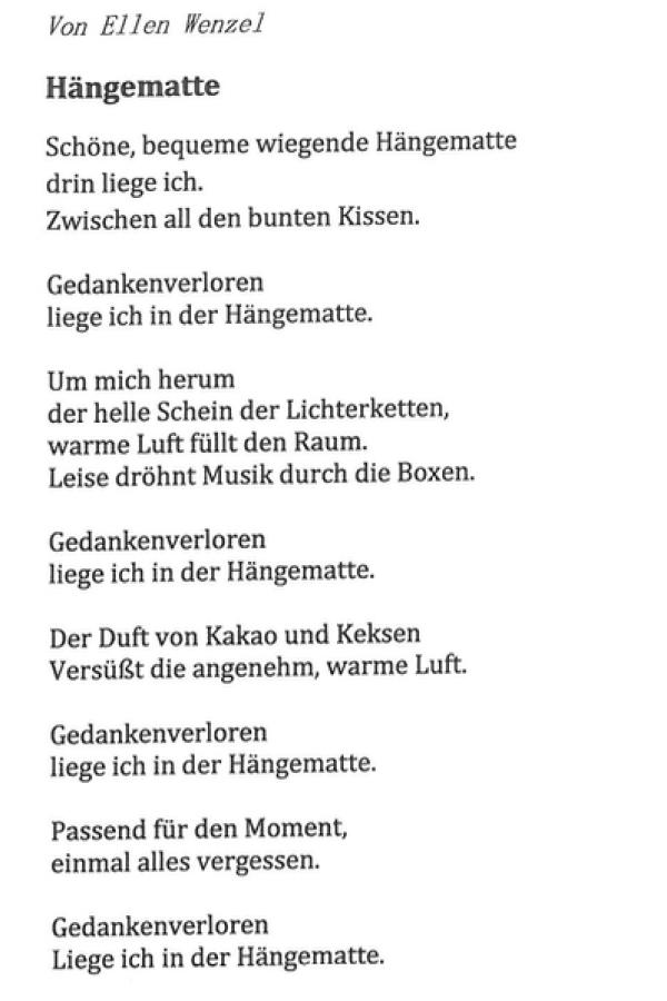 Junge Poeten In Deutsch Klasse 10 Evangelische Oberschule